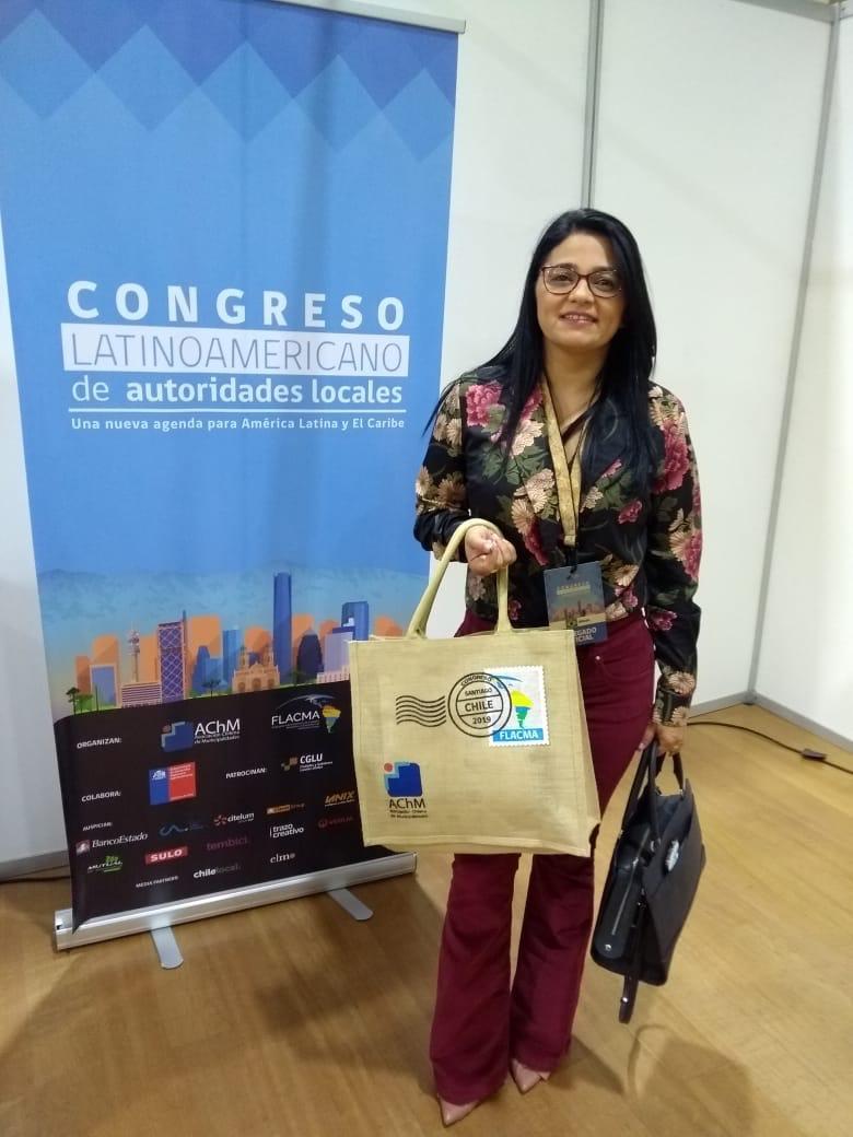 PREFEITA DE SOSSEGO PARTICIPA DE CONGRESSO INTERNACIONAL NO CHILE