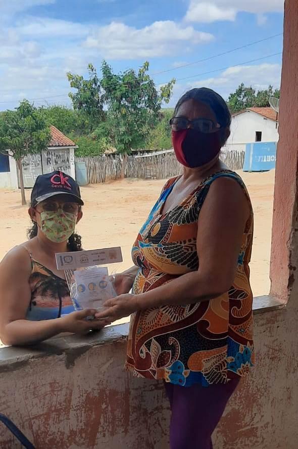 SMAS entrega kits de higienização e máscara para usuários dos Programas Sociais na Zona Rural de Sossego